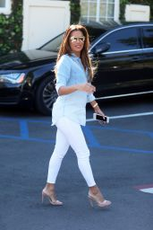 Eva Longoria Cute Style - Leaving Cafe Med Restaurant in West Hollywood 3/7/ 2017