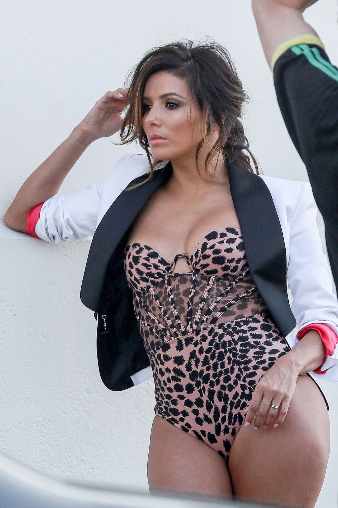 Eva Longoria In Swimsuits Photoshoot Outside Milk