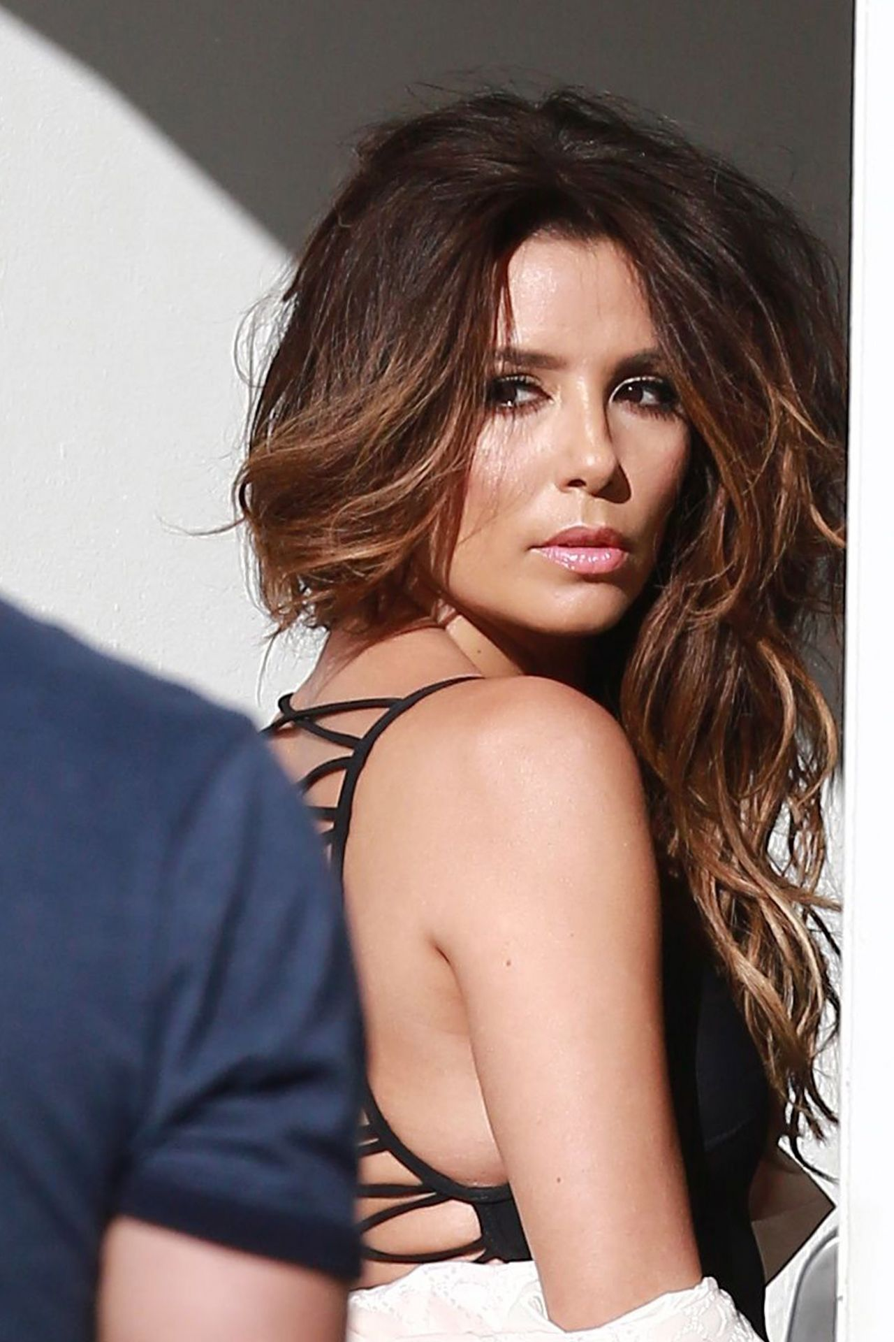 Eva Longoria in Swimsuits - Photoshoot Outside MILK ... Eva Longoria