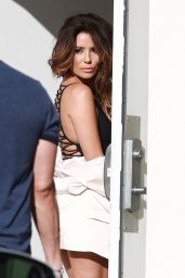 Eva Longoria in Swimsuits - Photoshoot Outside MILK Studios in Hollywood 3/13/ 2017
