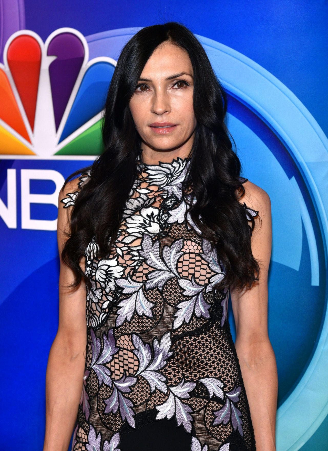 Famke Janssen – NBC Mid Season Press Day in New York 3/2/ 2017