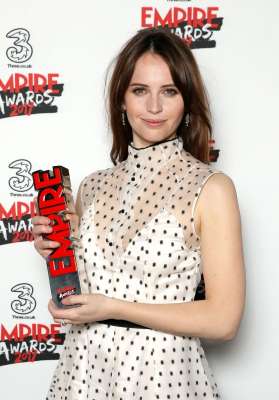 Felicity Jones – Three Empire Awards in London 3/19/ 2017