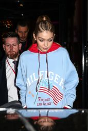 Gigi Hadid - Leaves Hotel George V in Paris, France 2/28/ 2017