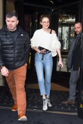 Gigi Hadid - Out in Paris, France 2/28/ 2017