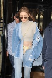 Gigi Hadid Style Inspiration - Leaving George V Hotel in Paris 3/2/ 2017