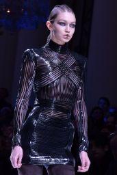 Gigi Hadid Walks Balmain Show at Paris Fashion Week 3/2/ 2017