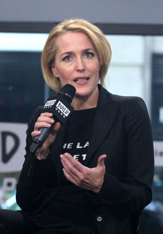 Gillian Anderson at AOL Build Show Studio 3/13/ 2017