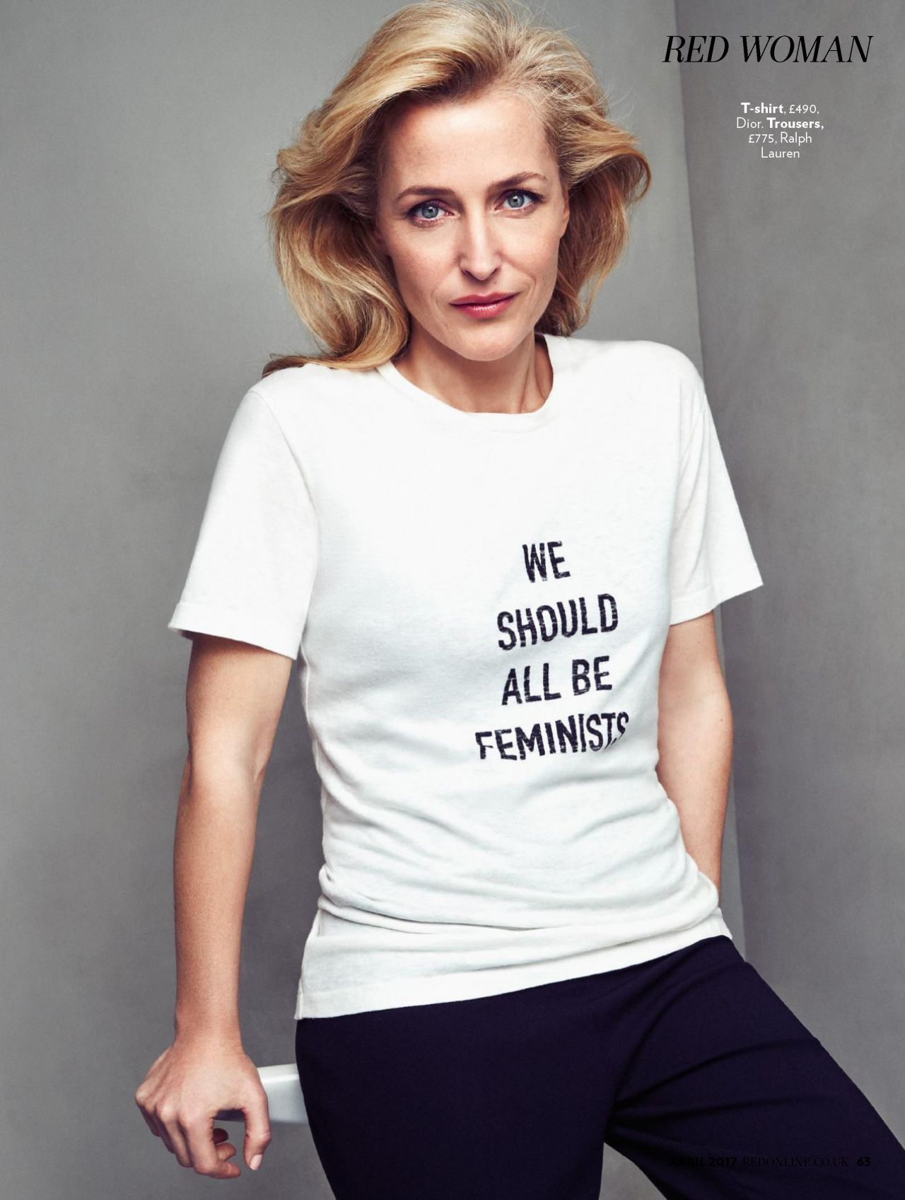 Gillian Anderson Red Magazine Uk April 2017 Issue