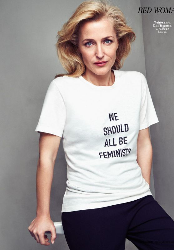 Gillian Anderson - Red Magazine UK April 2017 Issue