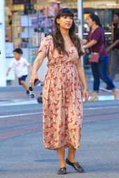 Hannah Simone - Taking Her Family on a Shopping Trip to The Grove in Hollywood 3/9/ 2017