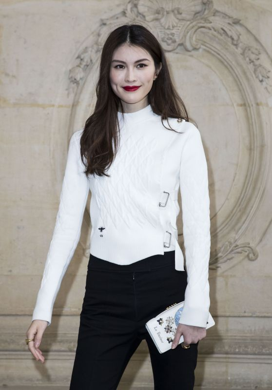 He Sui at Paris Fashion Week - Christian Dior Show 3/3/ 2017
