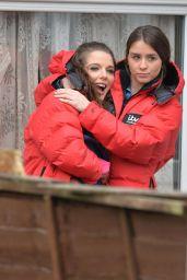 Helen Flanagan & Brooke Vincent - Filming Coronation Street in Manchester 3/8/ 2017