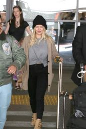 Hilary Duff - Arriving at LAX Airport in LA 3/9/ 2017