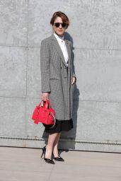 Isabella Ragonese at Milan Fashion Week – Armani Show Arrivals 2/27/ 2017