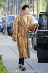 Jaime King in Bizarre Fur Look - Beverly Hills 3/1/ 2017