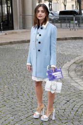 Jenna Coleman at Paris Fashion Week - Miu Miu Show 3/7/ 2017