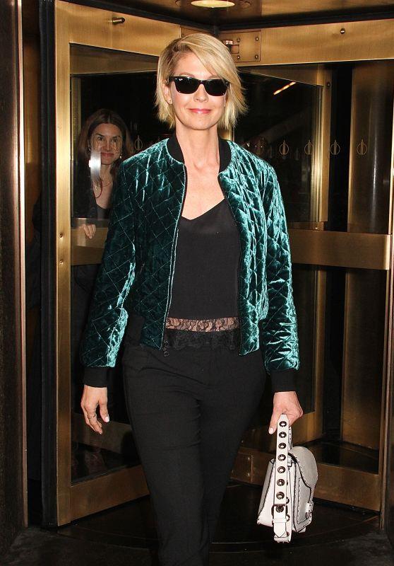 Jenna Elfman Style -  Leaving NBC Studios in NYC 3/26/ 2017