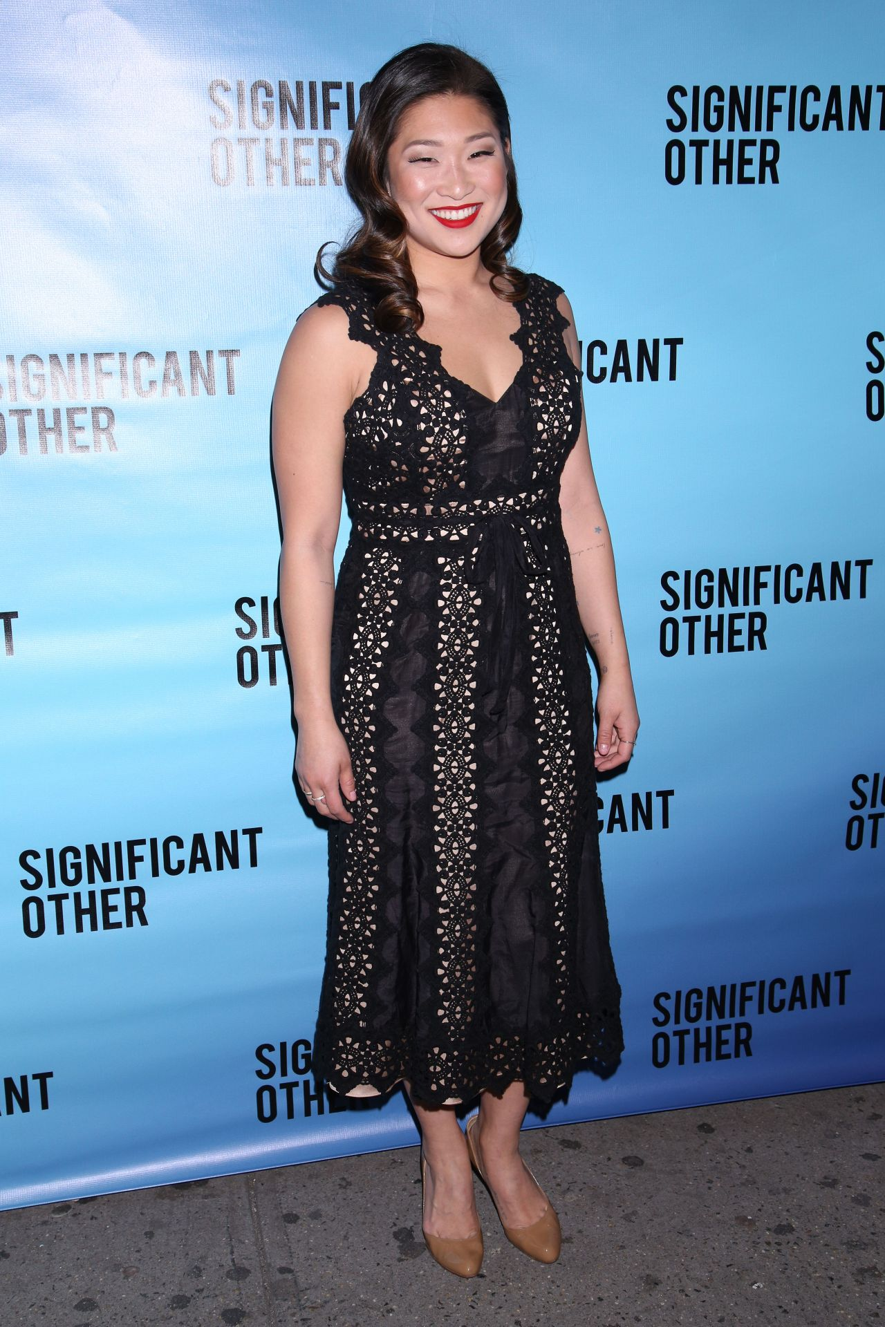 Jenna Ushkowitz at Broadway Opening Night Performance for
