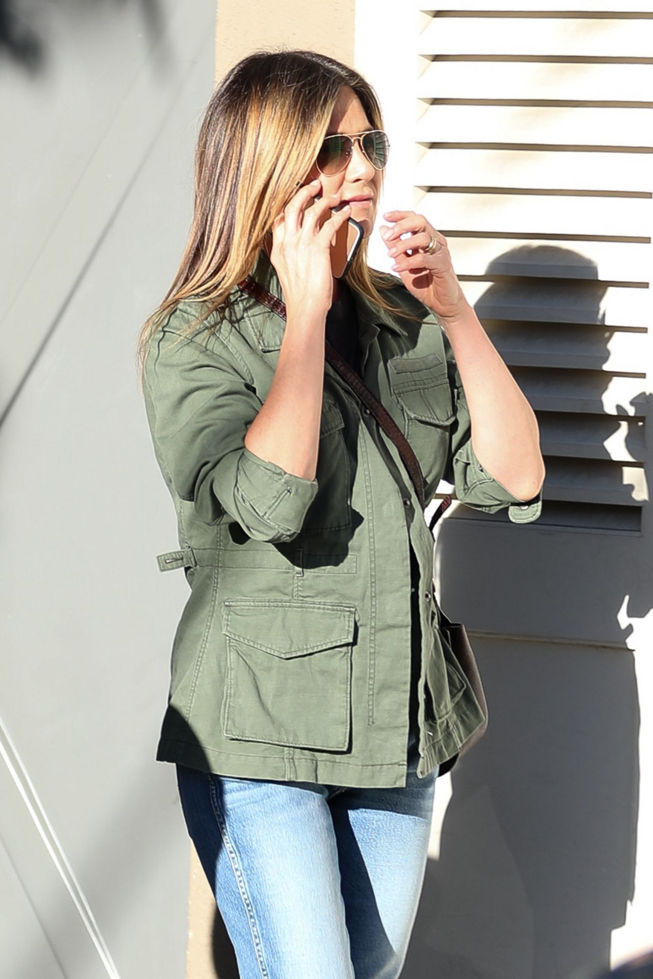 Jennifer Aniston Street Style Shopping In West Hollywood