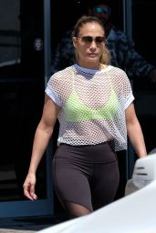 Jennifer Lopez in Spandex - Leaving a Gym in Miami 3/16/ 2017