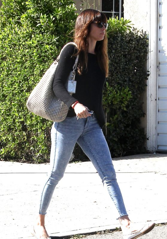 Jessica Biel in Casual Attire - Out in Studio City 3/16/ 2017