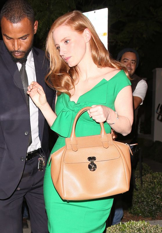 Jessica Chastain at Gracias Madre in West Hollywood 3/29/2017