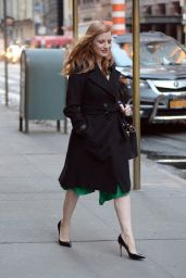 Jessica Chastain is All Smiles - Leaving Her Apartment in NYC 3/19/ 2017