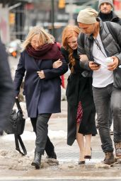 Jessica Chastain is All Smiles - Out in New York City 3/18/ 2017