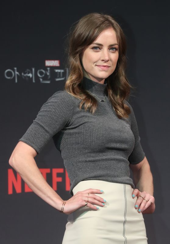 "Jessica Stroup - ""Iron Fist"" Press Conference in Seoul, South Korea 3/29/2017"