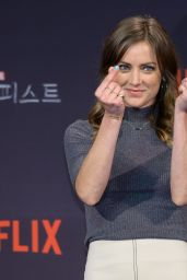 "Jessica Stroup - ""Iron Fist"" Press Conference in Seoul, South Korea 3/29/2017"