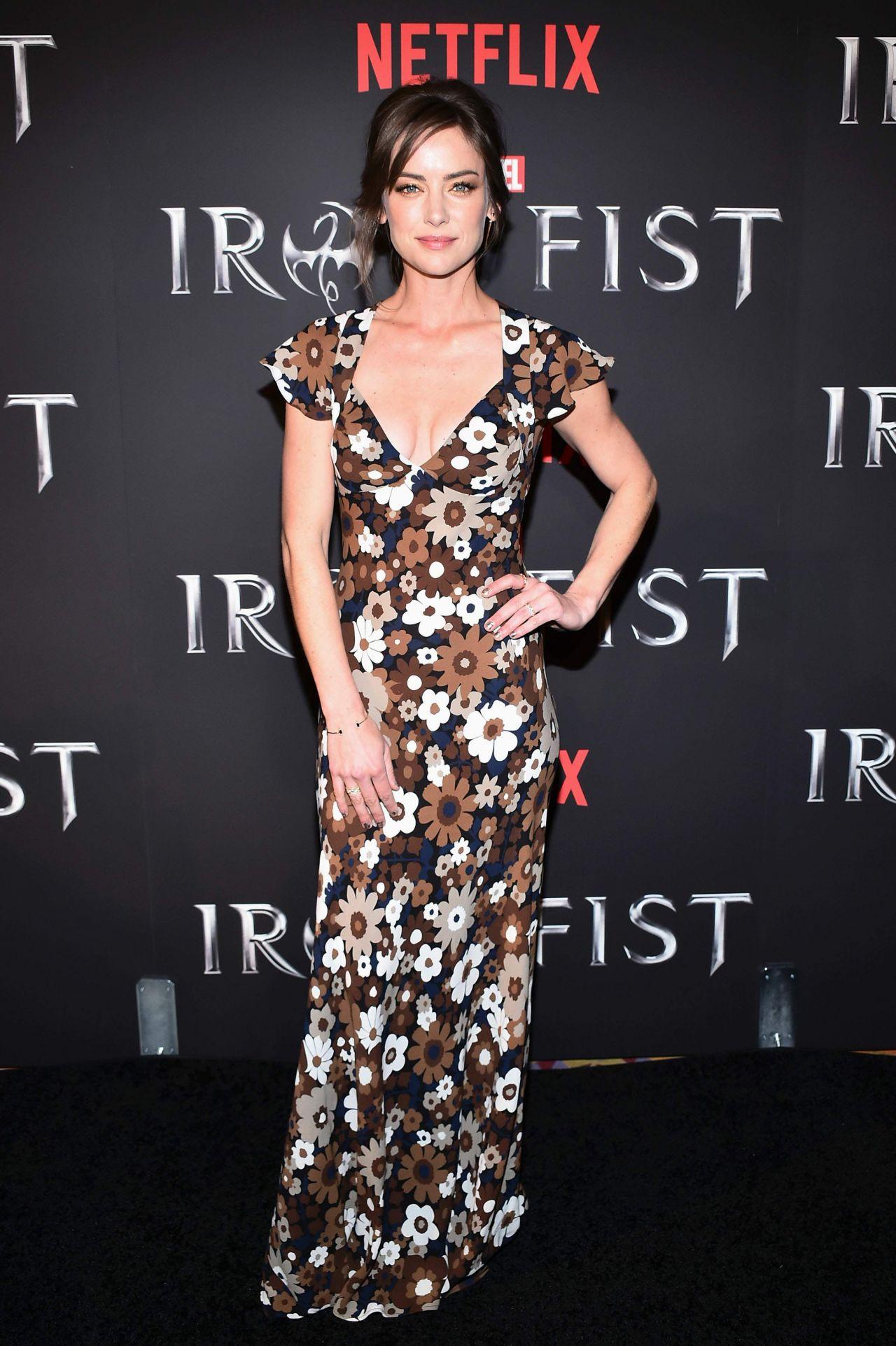Jessica Stroup Iron Fist Tv Series Premiere In New