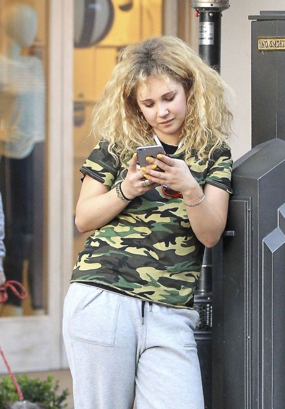 Juno Temple Shops at the Grove in Los Angeles 3/8/ 2017