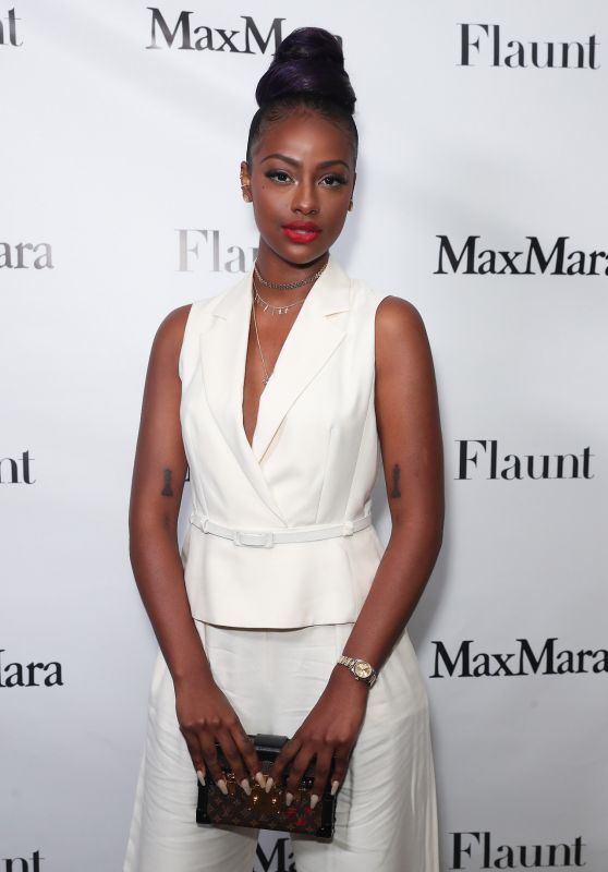 Justine Skye - Max Mara x Flaunt Dinner in Los Angeles 3/17/ 2017