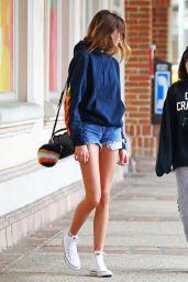 Kaia Gerber Leggy in Jeans Shorts - Malibu, CA 3/19/ 2017
