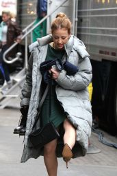 "Karine Vanasse - ""Salamander"" Set in Manhattan 3/28/2017"