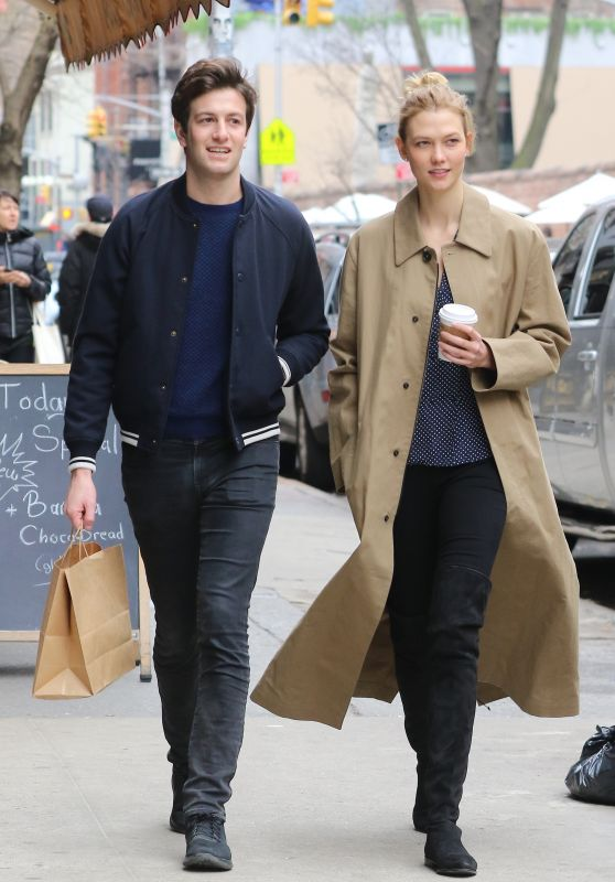 Karlie Kloss - Shopping With Joshua Kushner in SoHo, NY 3/26/ 2017