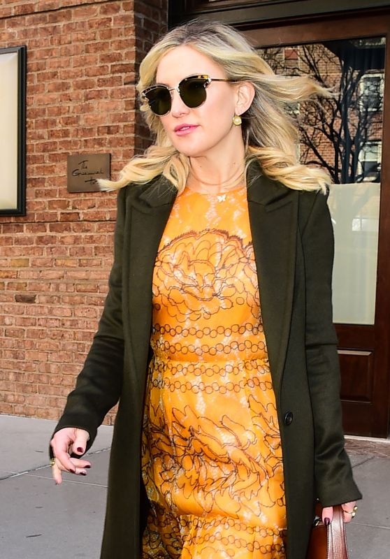 Kate Hudson Chic Outfit - Leaves the Greenwich Hotel in New York City 3/30/2017