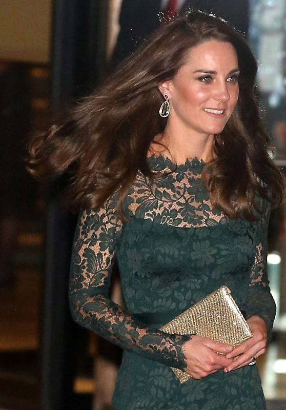 Kate Middleton - Glittering Gala at National Portrait Gallery in London 3/28/2017