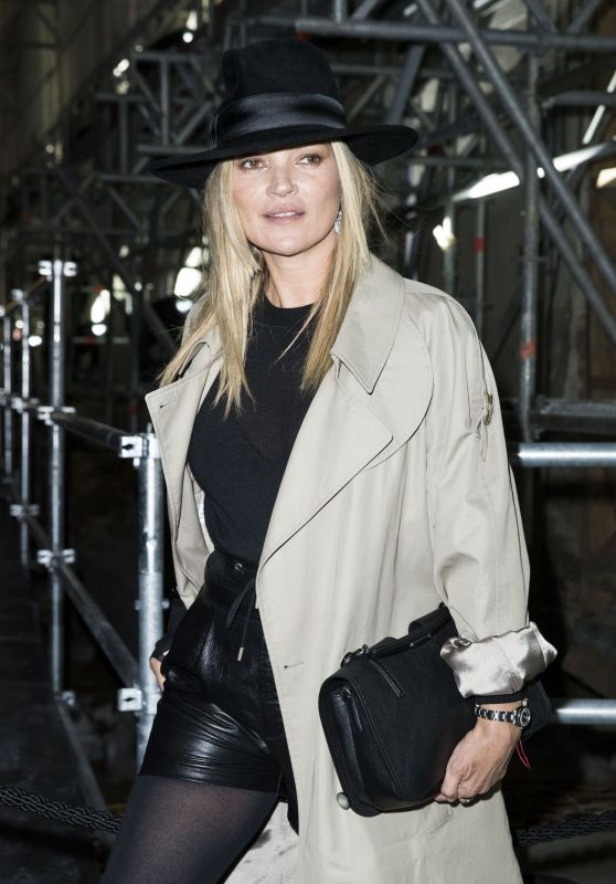 Kate Moss at Paris Fashion Week – Saint Laurent Show Autumn Winter 2017