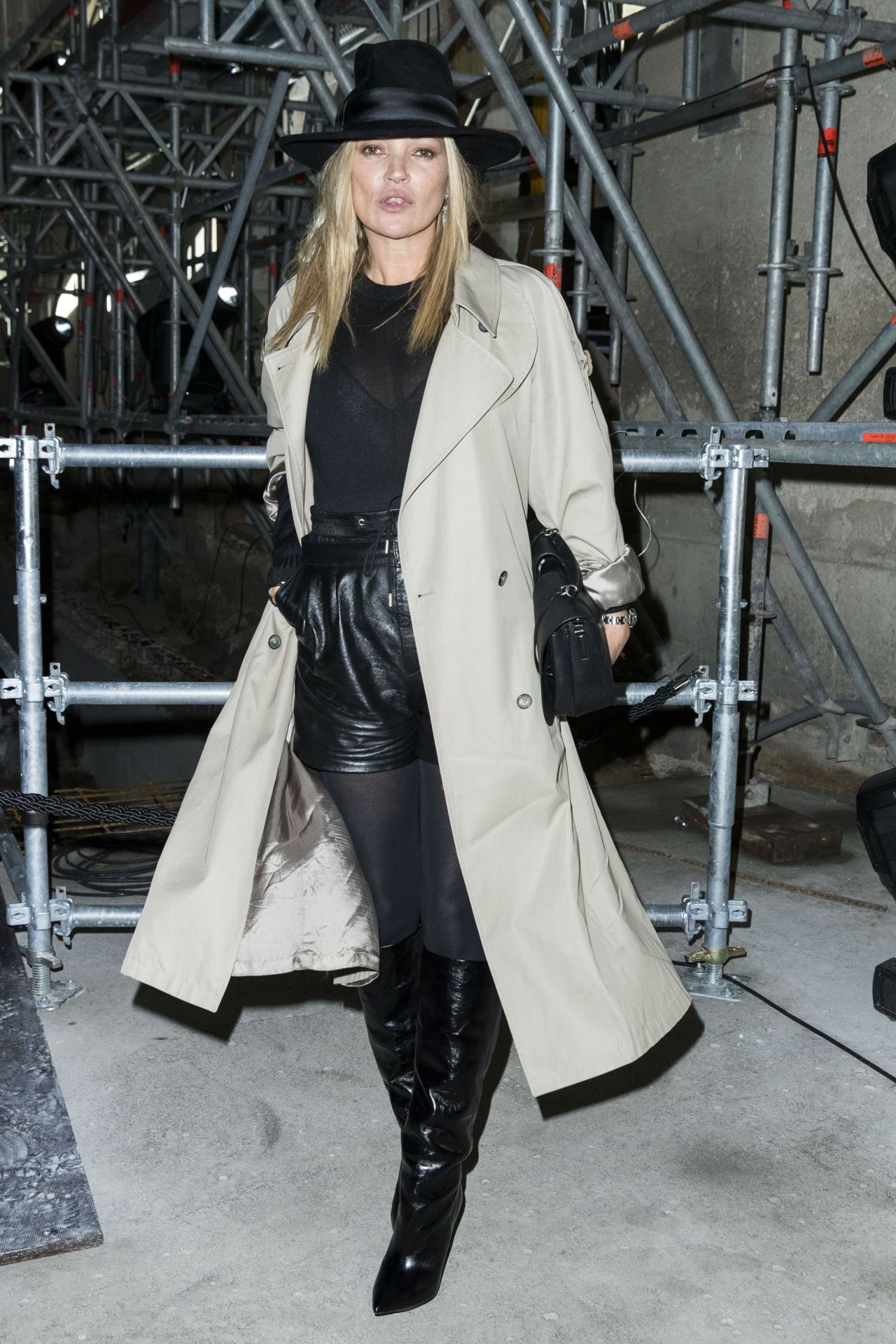 Kate Moss At Paris Fashion Week Saint Laurent Show