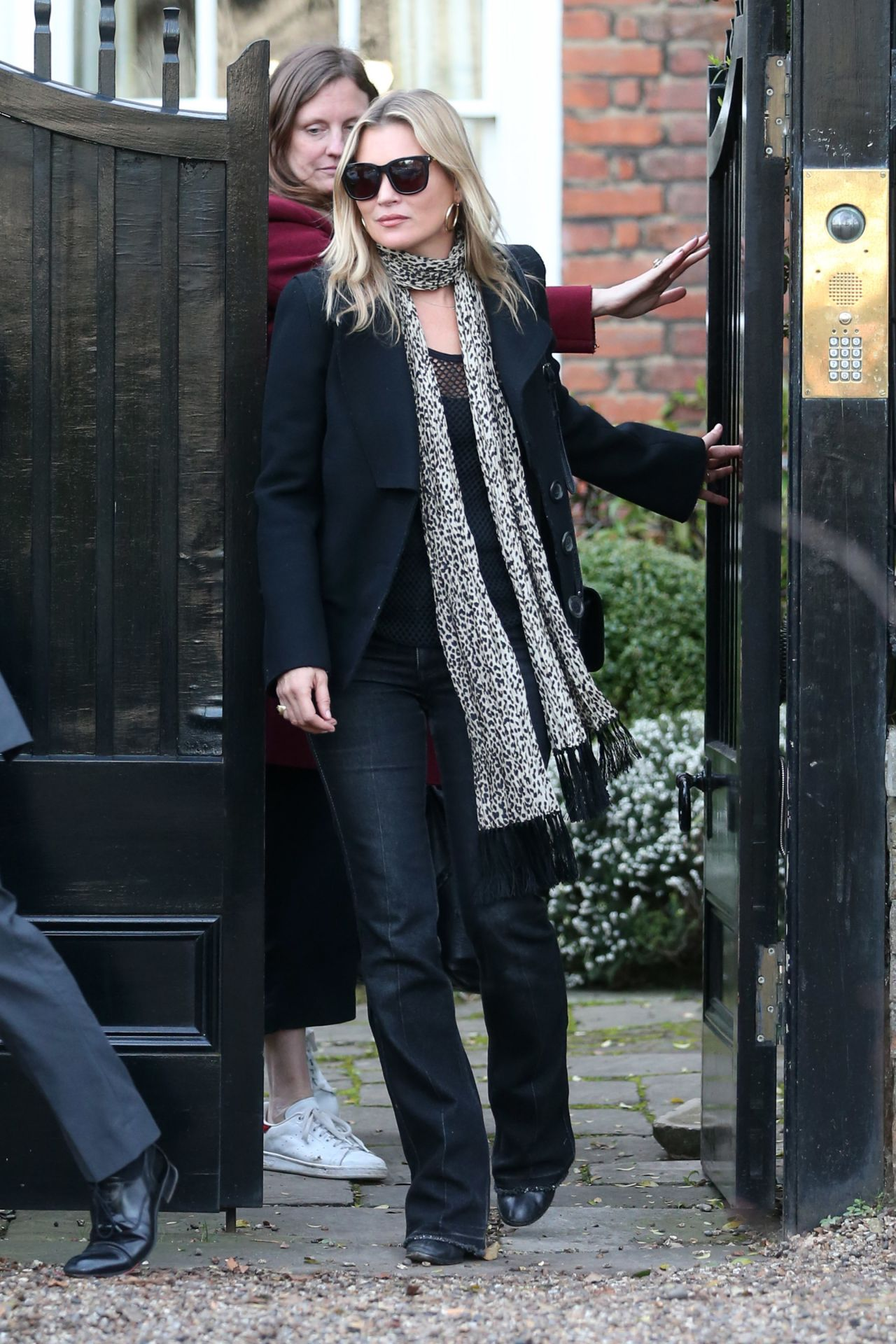 Kate moss leaves her home in north london