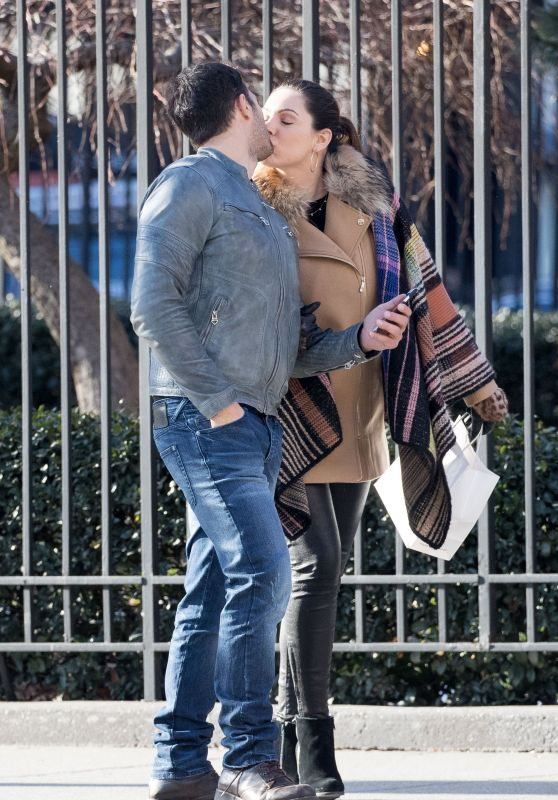 Kelly Brook Kisses Boyfriend Jeremy Parisi - NYC 3/13/ 2017