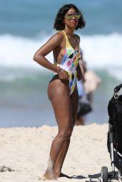 Kelly Rowland in Swimsuit - Beach in Sydney 3/27/2017