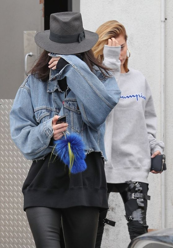 Kendall Jenner & Hailey Baldwin - Exit a Hair Salon in Los Angeles 3/21/ 2017