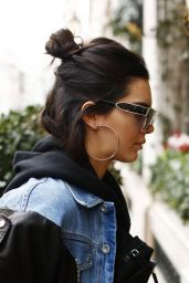 Kendall Jenner in Casual Attire - Out in Paris, France 3/3/ 2017