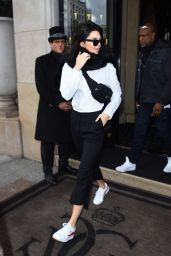 Kendall Jenner - Leaving the Four Seasons Hotel in Paris, France 2/28/ 2017