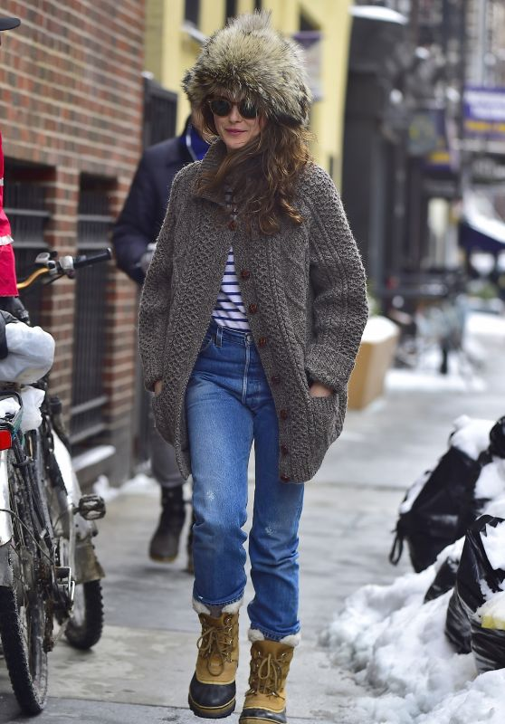 Keri Russell - Winter in NYC 3/15/ 2017