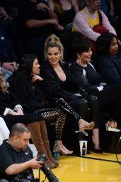 Khloe Kardashian, Kourtney Kardashian & Kris Jenner - LA Lakers game in Los Angeles 3/19/ 2017