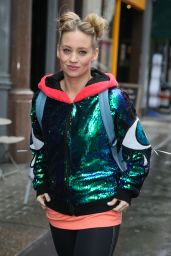 Kimberly Wyatt Wearing Dancing Clothes - Leaves BBC Radio in London 3/20/ 2017
