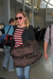 Kirsten Dunst Travel Outfit - LAX Airport in Los Angeles 3/8/ 2017
